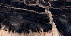the Enchanted Forest, abstract photography of the deserts of Africa from the air, aerial view of desert landscapes, Genre: Abstract Naturalism, from the abstract to the figurative, contemporary photo