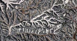 the Enchanted Forest, tribute to Picasso, abstract photography of the Spain fields from the air, aerial view, representation of human labor camps, abstract art,