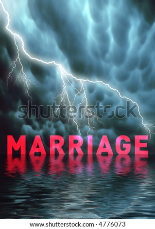 The end of a marriage, problems, divorce