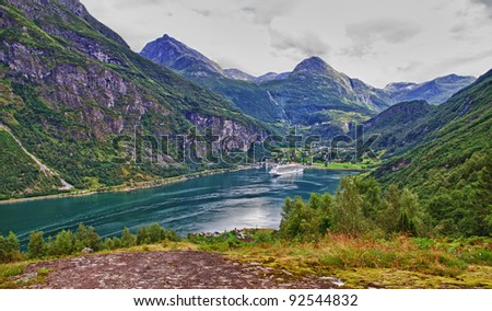 the end of Geiranger fiord, Norway