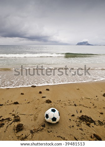 The end of summer games. Fall storms have put an end to the presence of tourists on beaches