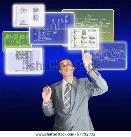 The engineer-designer chooses the design technological decision for realisation of plans of building