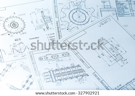 The engineering drawing printing