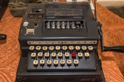 The Enigma Cipher Coding Machine from World War II