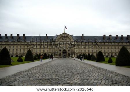 The enter of the Hotel des Invalides. Paris.