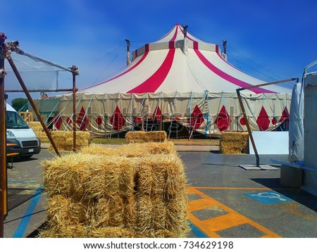 The entertainment center. Circus in the city of Rimini. Italy