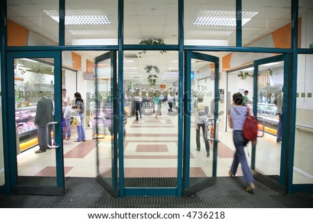 the entrance into the store