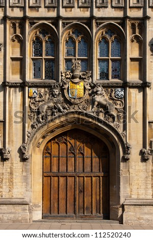 The entrance to All Souls College, founded in 1438,  Oxford.