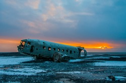 the epic plane in south Iceland