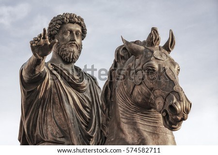 the equestrian statue of marcus ...