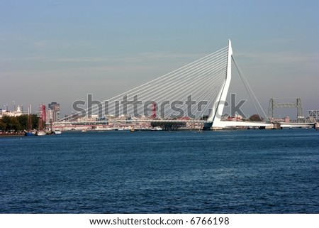 The Erasmus Bridge in Rotterdam