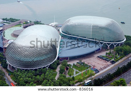 Singapore Esplanade Picture on The Esplanade  Singapore  Stock Photo 836016   Shutterstock
