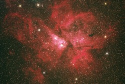 The Eta Carinae Nebula (NGC3372) this nabula in Carina constellation distance 7500 light year from earth.