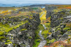 The Eurasian and North American tectonic plates - Thingvellir National Park - Iceland