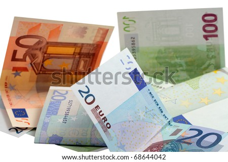 The euro isolated on a white background.