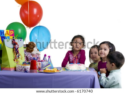 The excitement of a birthday party, childhood, youth, sharing, friends.