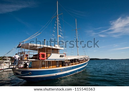 the excursion boat in city Porec - Croatia (Istria)