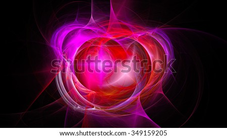The Explosion Supernova Bright Star Nebula Distant Galaxy Abstract Image Fractal Wallpaper