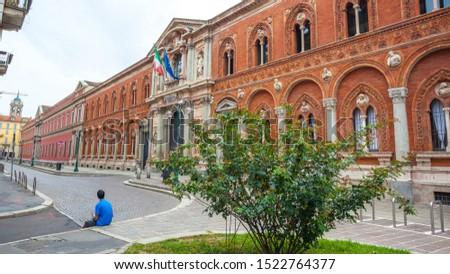 The exterior of the University of Milan. University of Milan is based in famous La Ca Granda. Education.