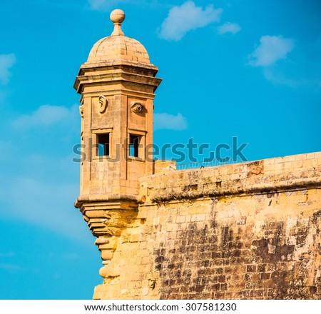 The Eye & Ear Vedette in Safe Heaven Garden of Senglea in  MALTA Stock fotó ©