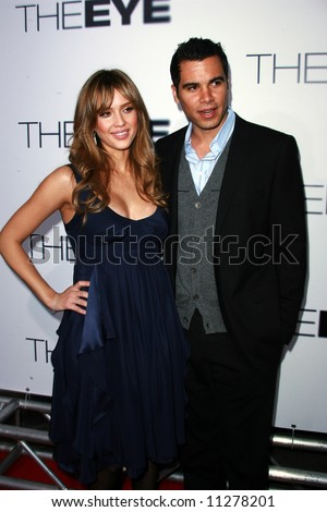 The Eye USA Premiere held at the Pacific Arclight Cinema. Jessica Alba and Cash Warren