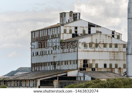 The eyesore of a dilapidated industrial building left to decay