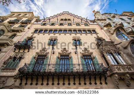 Shutterstock The facade of the house Casa Battlo designed by Antoni Gaudi, Barcelona, Spain