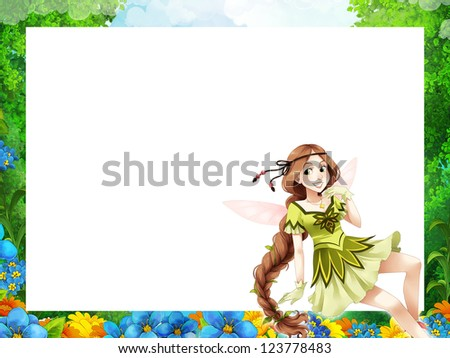 The fairy - Beautiful Manga Girl - illustration