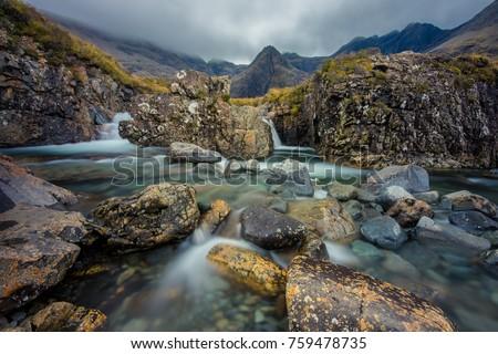 The Fairy Pools on the Isle of Skye, Scotland, UK. #759478735