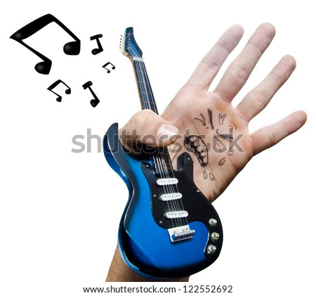The fake Rock singer is a hand.