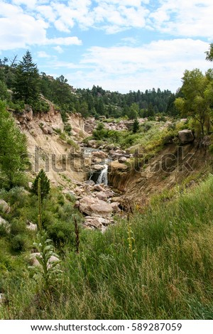 the falls  castlewood canyon...