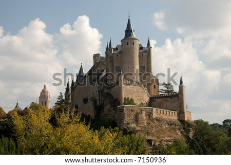 The famous Alcazar (Castle) of Segovia, Spain