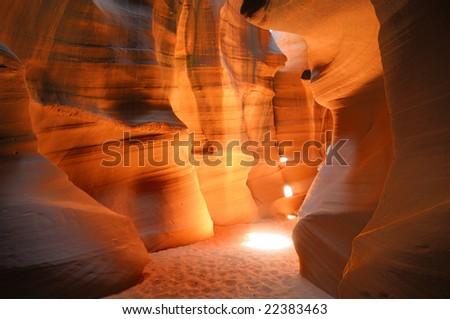 The famous Antelope Canyon in Arizona, US. - stock photo