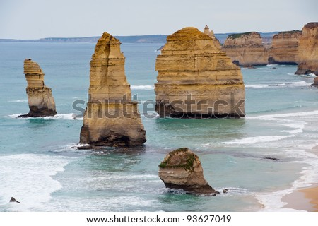 The famous 12 apostles on the great ocean road