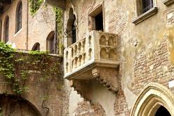 The Famous Balcony of Juliet and romeo, Verona, italy