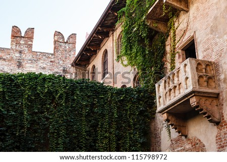 The Famous Balcony of Juliet Capulet Home in Verona, Veneto, Italy