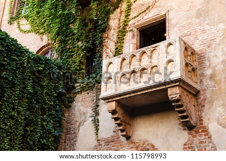 Photo of  The Famous Balcony of Juliet Capulet Home in Verona, Veneto, Italy