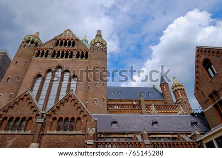 The famous basilica St Bavo in Haarlem/NL #765145288