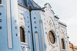 The famous blue church, one of the main attractions of Bratislava