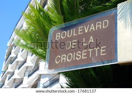 The famous Boulevard de la croisette in Cannes (south of France)