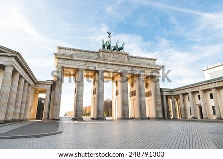 The Famous Brandenburg Gate In Berlin. Germany #248791303