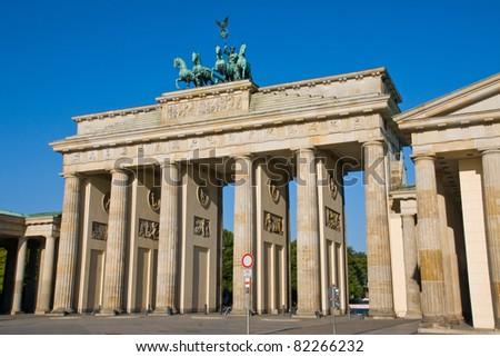 The famous Brandenburger Tor in Berlin