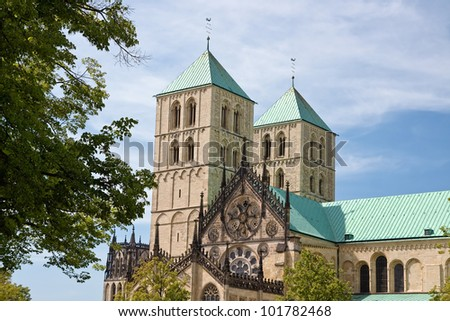 the famous cathedral st. paulus in M�¼nster, Germany.