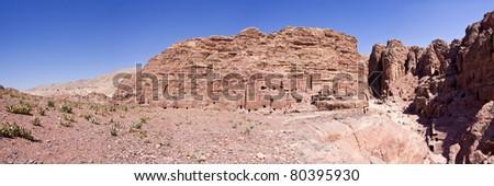 The famous caves of Petra-Jordan