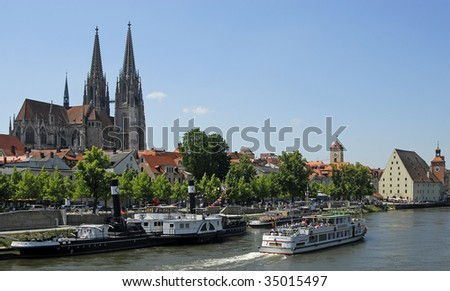 "The famous dome ""Sankt Peter"" in Regensburg in Germany in Europe"