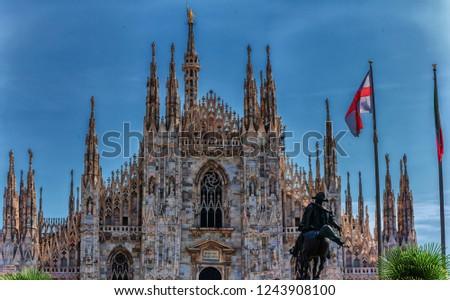 The famous Duomo di Milano and city of Milano, Italy #1243908100