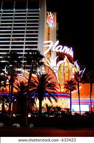 The Famous Flamingo Hotel on the Las Vegas Strip