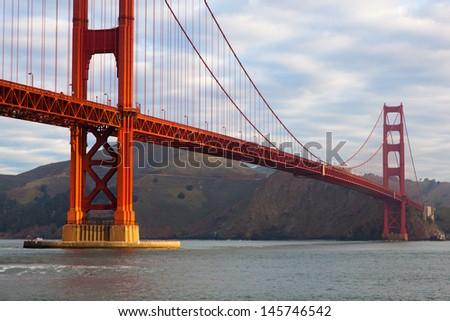 The famous Golden Gate Bridge in San Francisco California USA