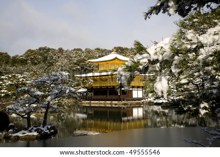 the famous golden temple in the snow
