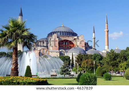 The famous Hagia Sophia mosque, Istanbul, Turkey
